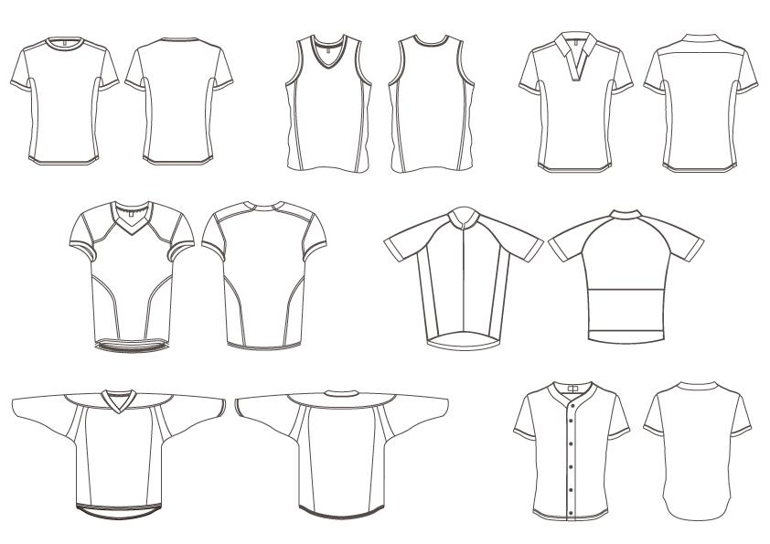 Modèles de maillots - Sublimation, Fabrication