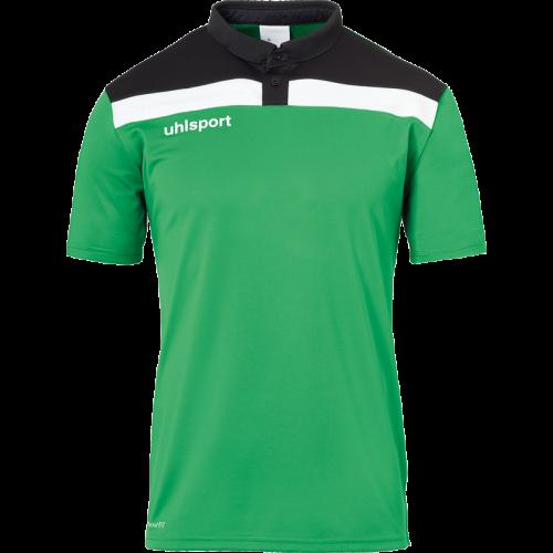 Uhlsport Offense 23 Polo Shirt - Vert, Noir & Blanc