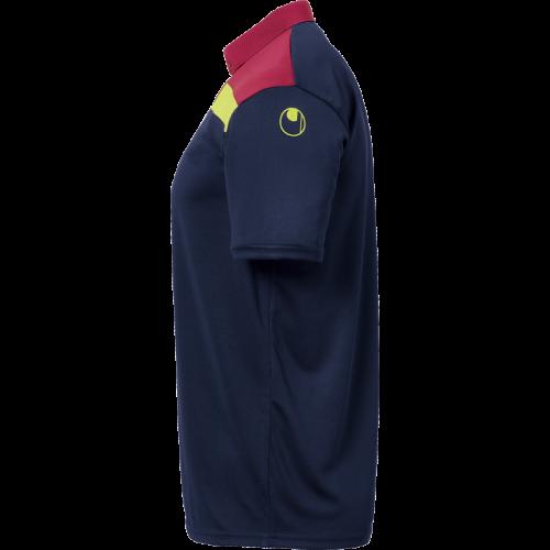 Uhlsport Offense 23 Polo Shirt - Marine, Bordeaux & Jaune Fluo