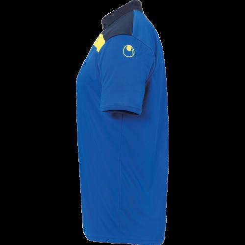 Uhlsport Offense 23 Polo Shirt - Azur, Marine & Jaune Citron