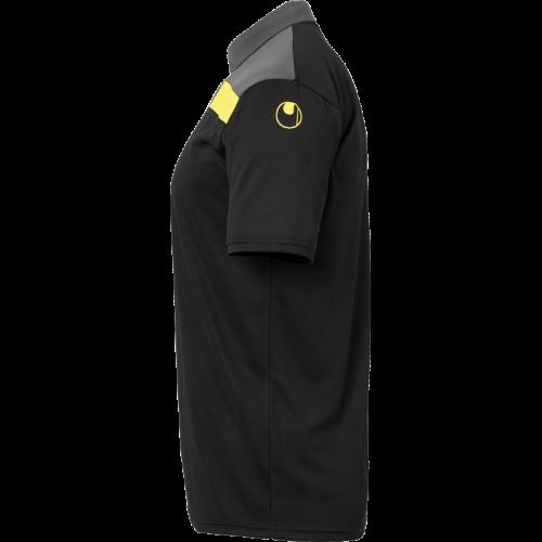 Uhlsport Offense 23 Polo Shirt - Noir, Anthracite & Jaune Citron