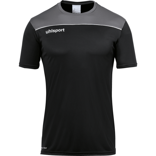 Uhlsport Offense 23 Poly Shirt - Noir, Anthracite & Blanc