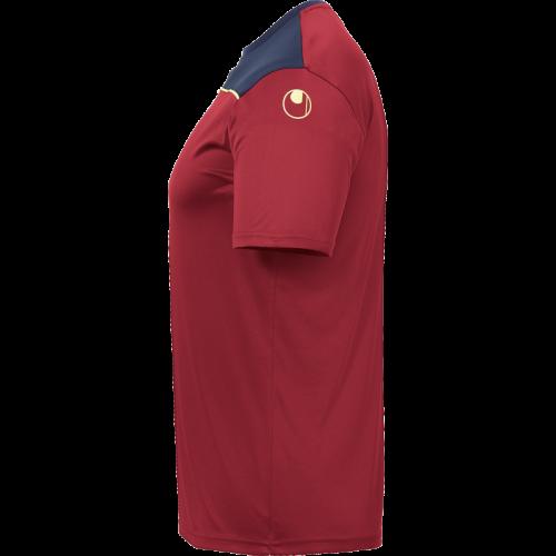 Uhlsport Offense 23 Poly Shirt - Bordeaux, Marine & Jaune Fluo