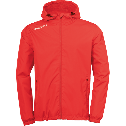 Uhlsport Essential Rain Jacket - Rouge & Blanc