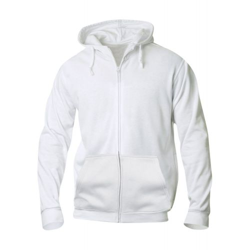Basic Hoody Full Zip - Blanc
