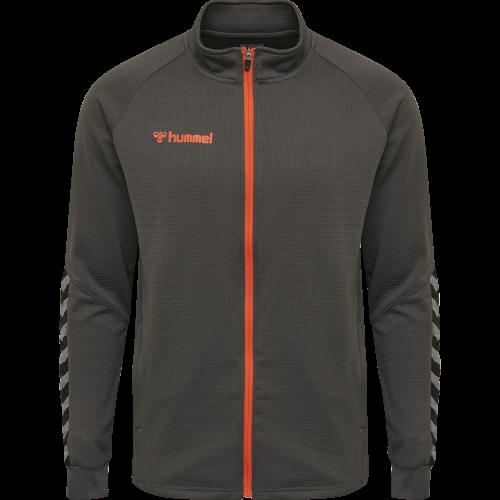 Hummel HML Authentic Poly Zip jacket - Gris & Orange