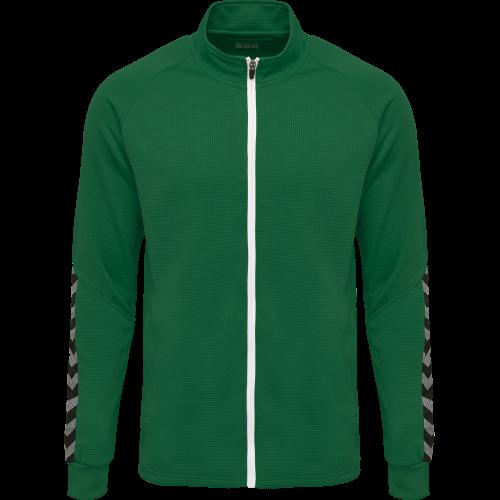 Hummel HML Authentic Poly Zip jacket - Vert