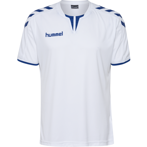 Hummel Core SS Poly Jersey - Blanc & Royal