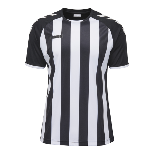 Hummel Core Striped SS Jersey - Blanc & Noir
