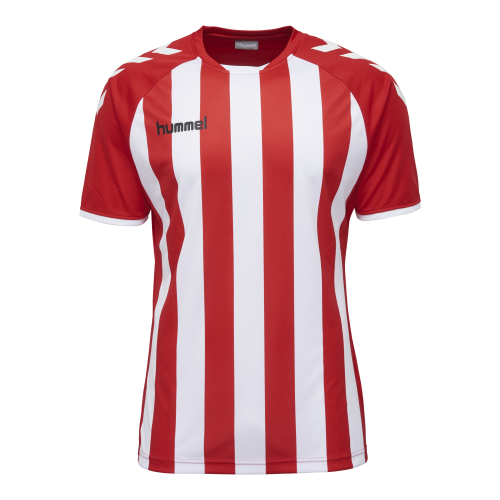 Hummel Core Striped SS Jersey - Rouge & Blanc