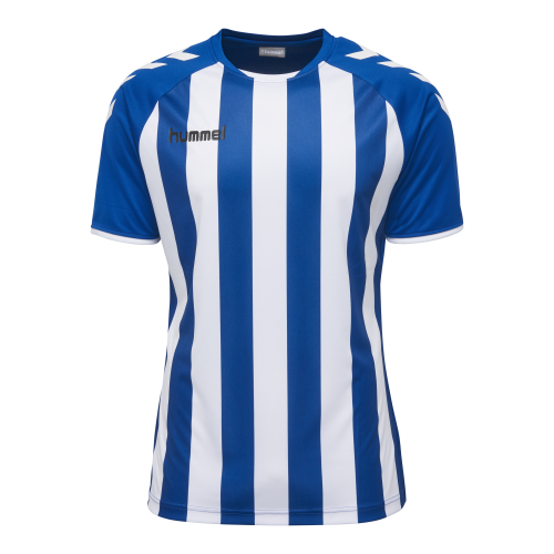 Hummel Core Striped SS Jersey - Royal & Blanc