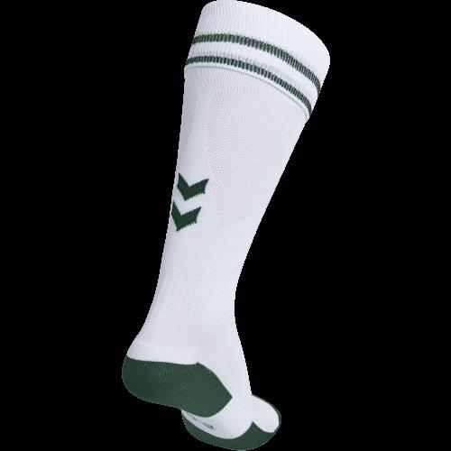 Hummel Element Football Sock - Blanc & Vert Foncé