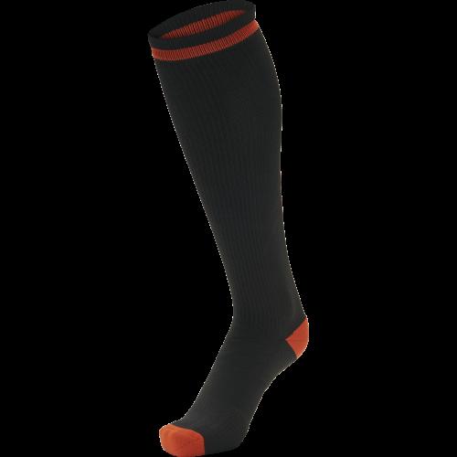 Hummel Elite Indoor Sock High - Noir & Rouge