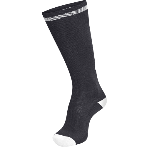 Hummel Elite Indoor Sock High - Noir & Blanc