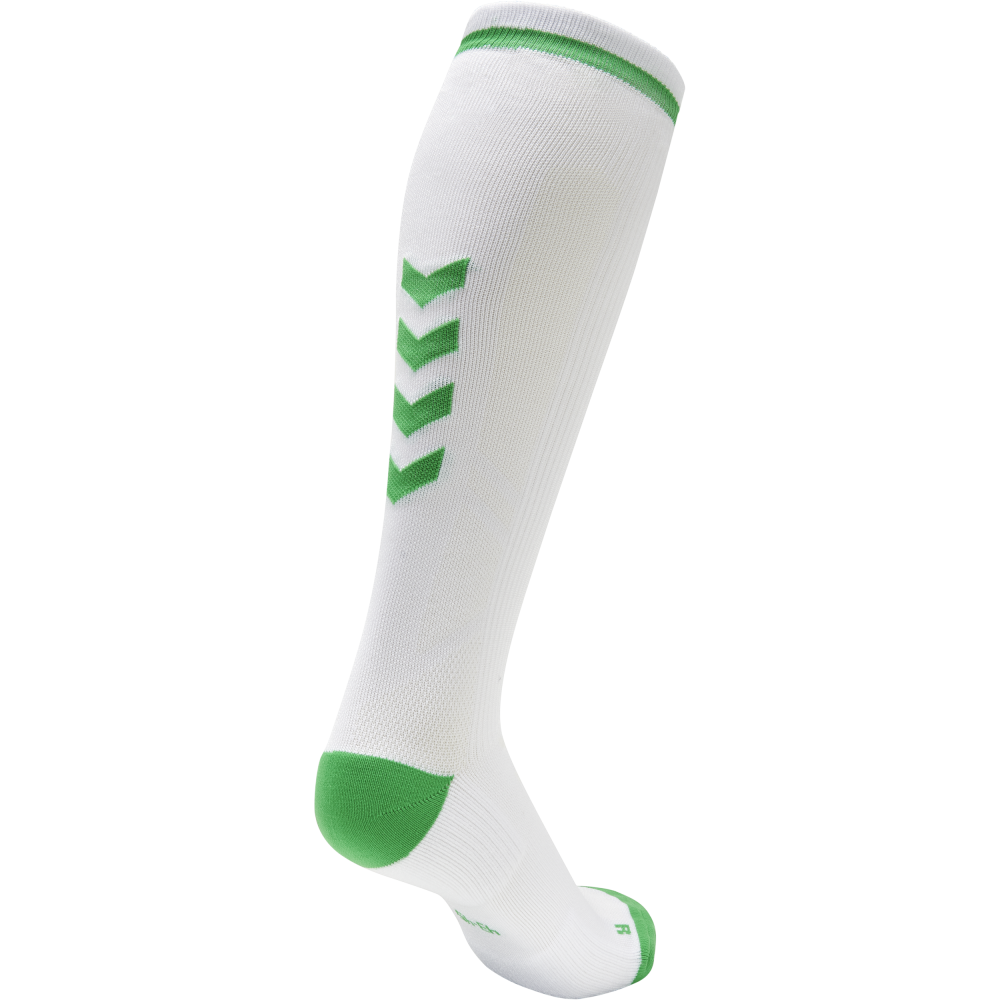 Hummel Elite Indoor Sock High - Blanc & Vert Jelly Bean