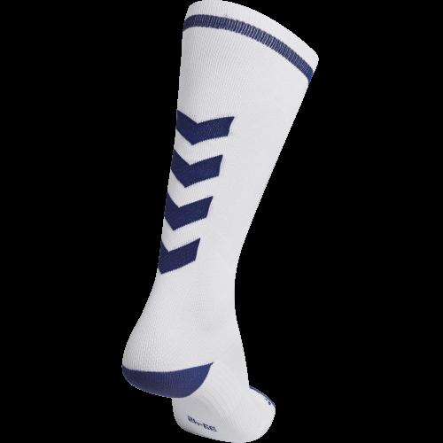 Hummel Elite Indoor Sock High - Blanc & Royal