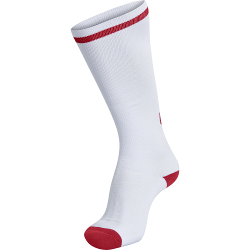 Hummel Elite Indoor Sock High - Blanc & Rouge