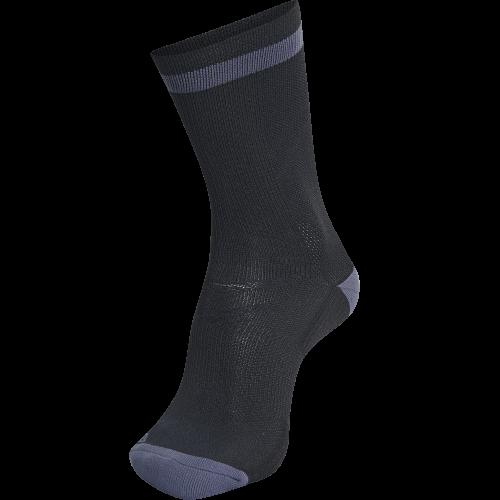 Hummel Elite Indoor Sock Low - Noir & Gris Foncé
