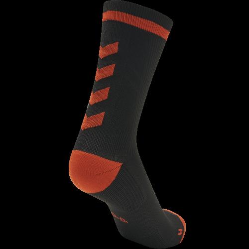 Hummel Elite Indoor Sock Low - Noir & Rouge