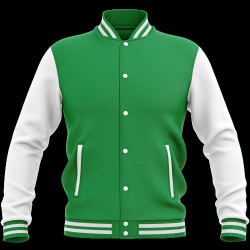 Veste College - Vert & Blanc