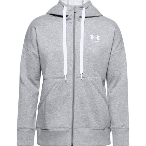 Under Armour Women's Rival Fleece Full-Zip Hoodie - Gris