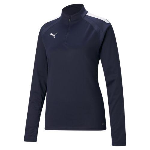 Puma team Liga 1/4 Zip Top Femme - Bleu Marine