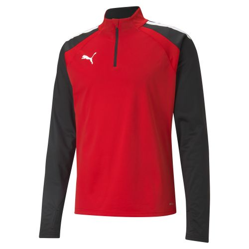 Puma team LIGA Training 1/4 Zip Top - Rouge & Noir