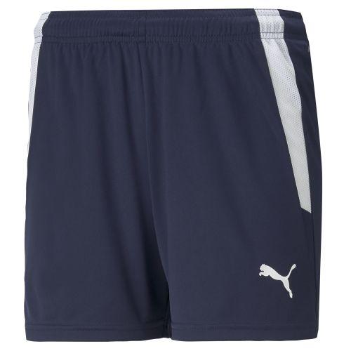 Puma teamLIGA Short - Bleu Marine & Blanc W