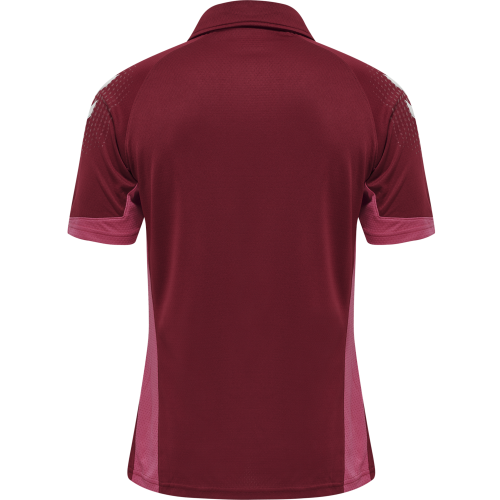 Hummel LEAD Functional Polo - Bordeaux