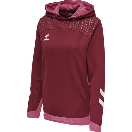 Hummel LEAD Poly Hoodie Women - Bordeaux