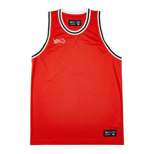 K1x Big Hole Mesh Double X Jersey - Rouge