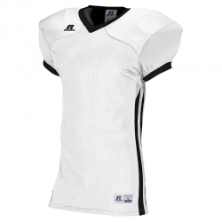 Russell Athletic Compression Color Block Jersey - Blanc/Noir