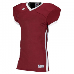 Russell Athletic Compression Color Block Jersey - Cardinal/Blanc