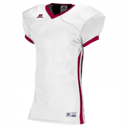Russell Athletic Compression Color Block Jersey - Blanc/Cardinal
