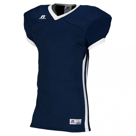 Russell Athletic Compression Color Block Jersey - Marine/Blanc
