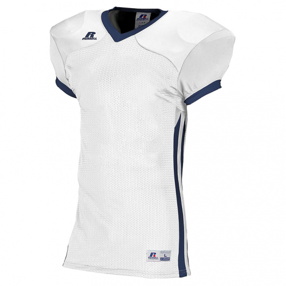 Russell Athletic Compression Color Block Jersey - Blanc/Marine