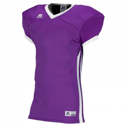 Russell Athletic Compression Color Block Jersey - Violet/Blanc