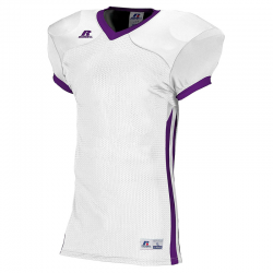 Russell Athletic Compression Color Block Jersey - Blanc/Violet