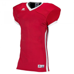 Russell Athletic Compression Color Block Jersey - Rouge/Blanc