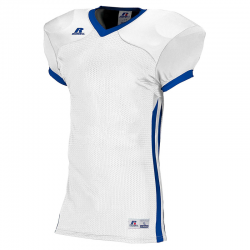 Russell Athletic Compression Color Block Jersey - Blanc/Royal