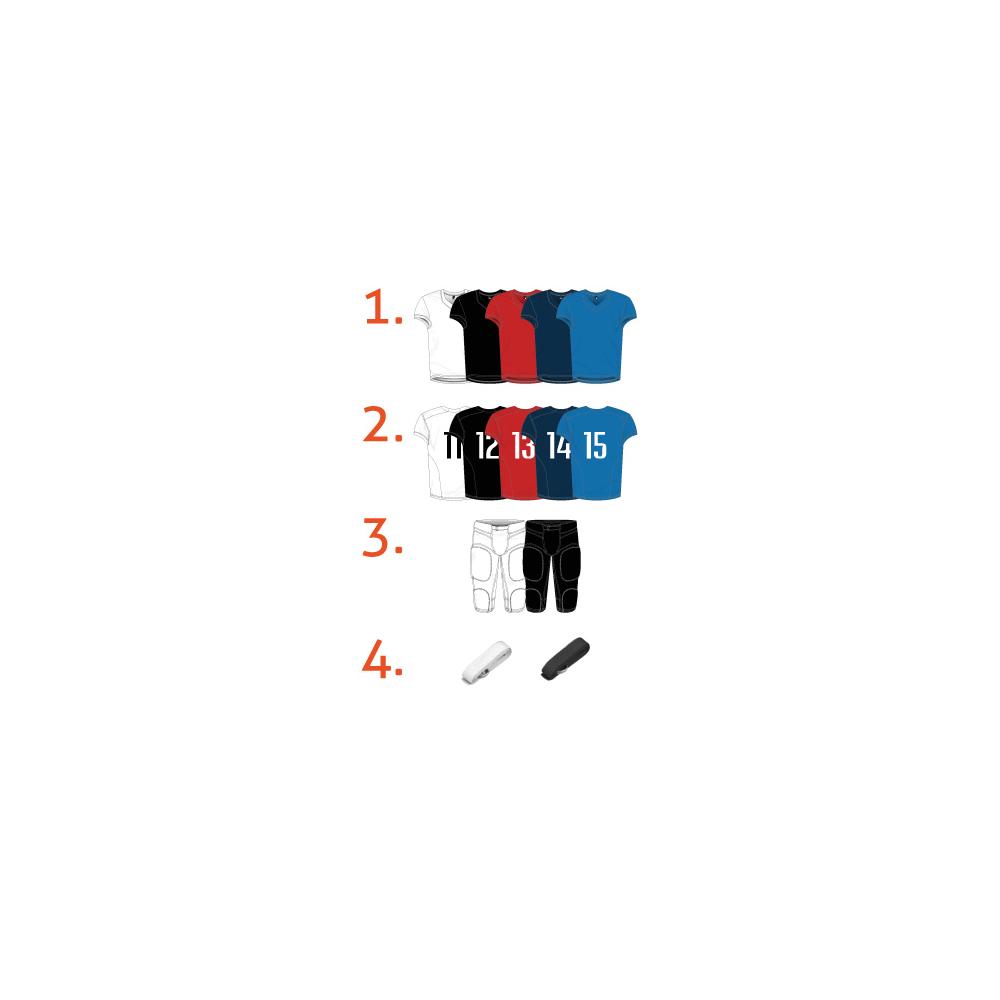 Pack Entraînement Foot US - Maillot + pantalon + ceinture