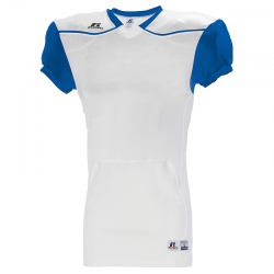 Russell Athletic Color Block Away Jersey - Blanc / Royal