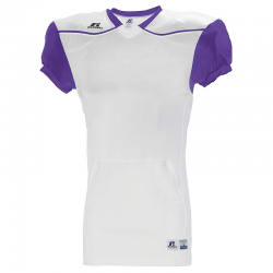 Russell Athletic Color Block Away Jersey - Blanc / Violet
