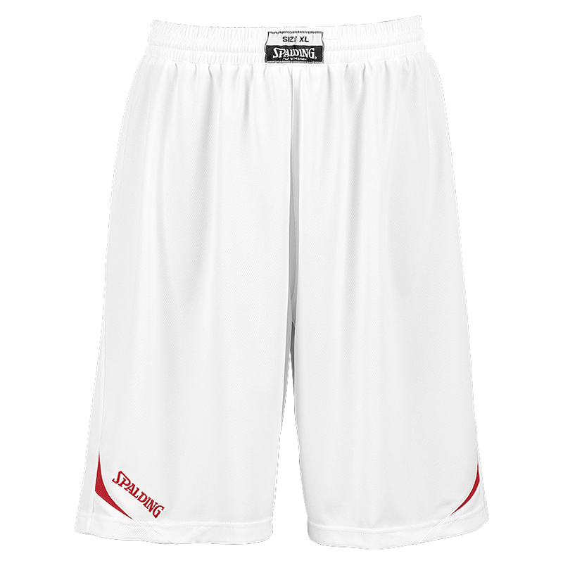 Spalding Attack Shorts - Blanc & Rouge