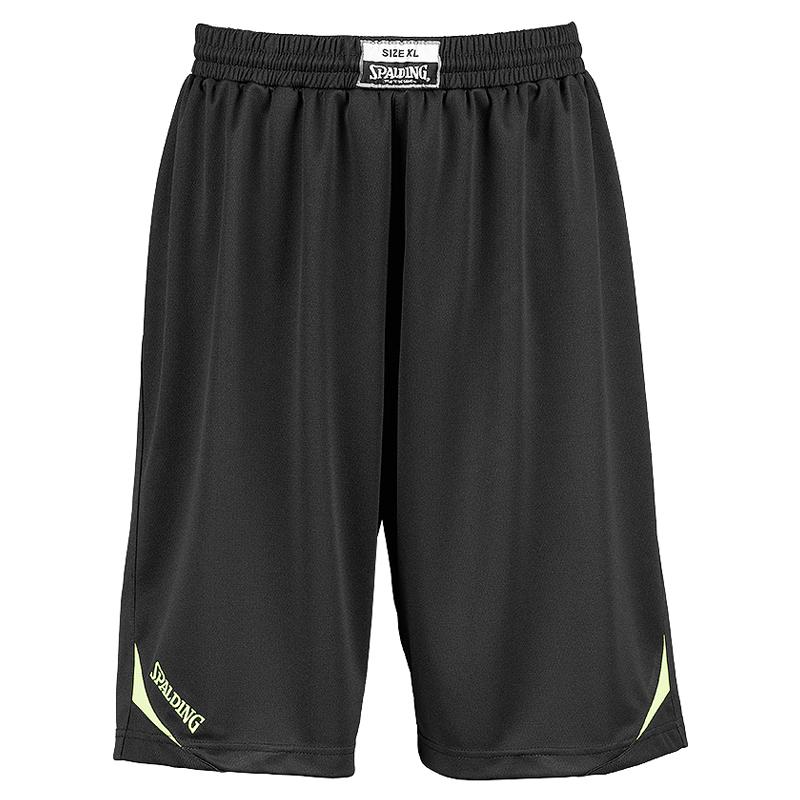 Spalding Attack Shorts - Noir & Jaune Néon