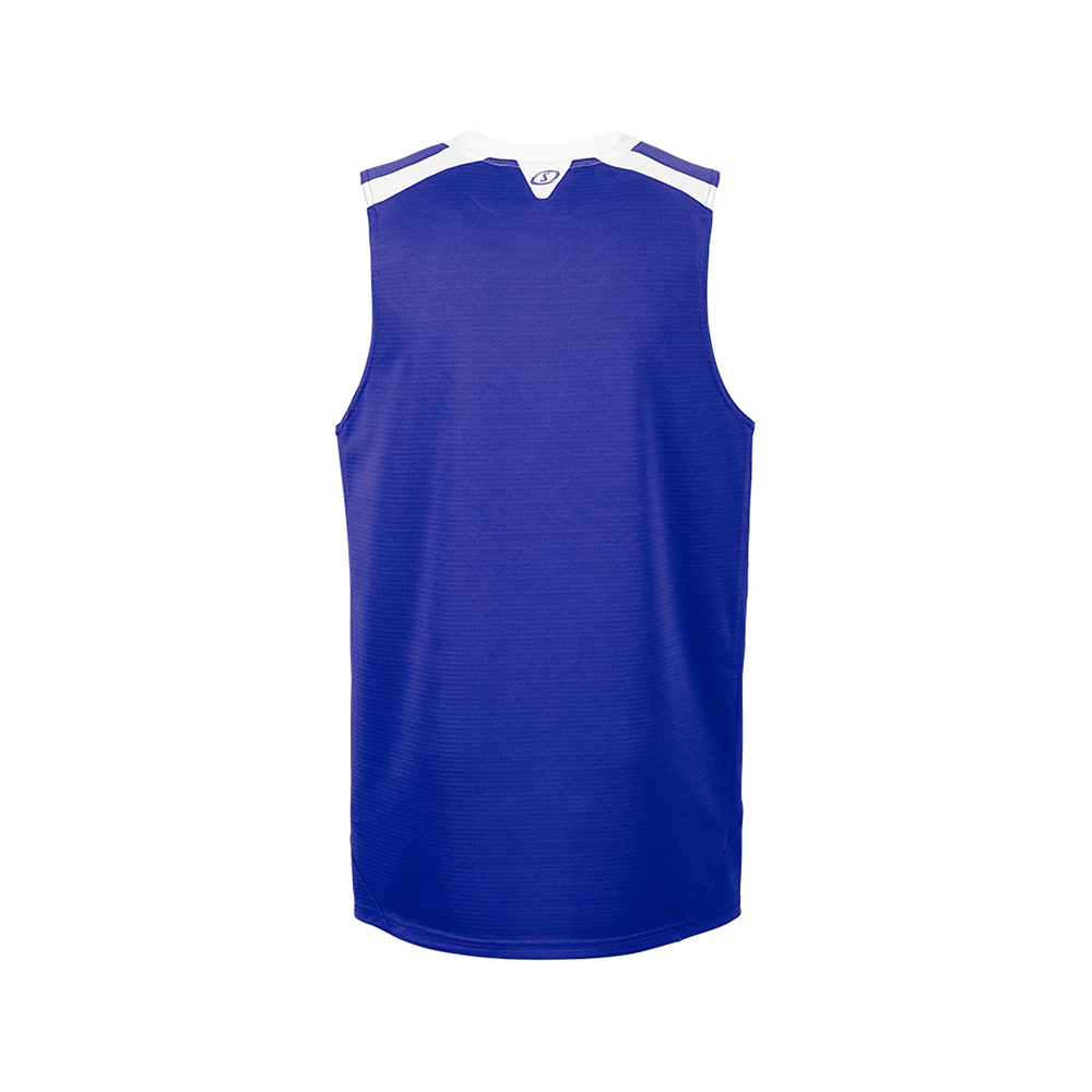 Spalding Offense Tank Top - Royal / Blanc - Dos