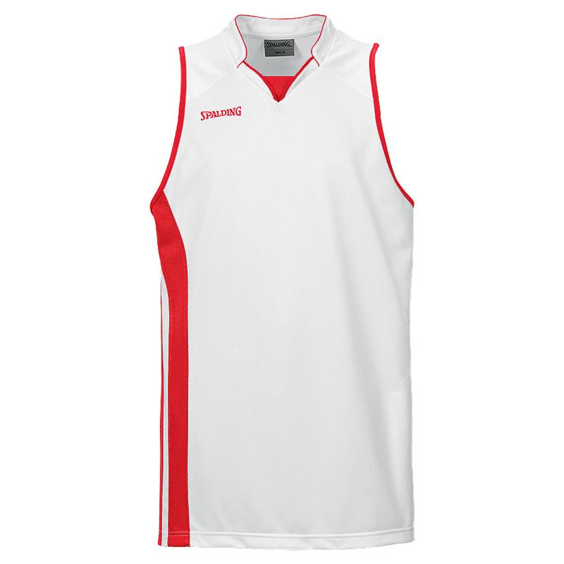 Spalding MVP Tank Top - Blanc & Rouge