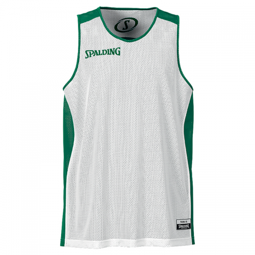 Spalding Essential Reversible Shirt - Vert & Blanc - Face blanche
