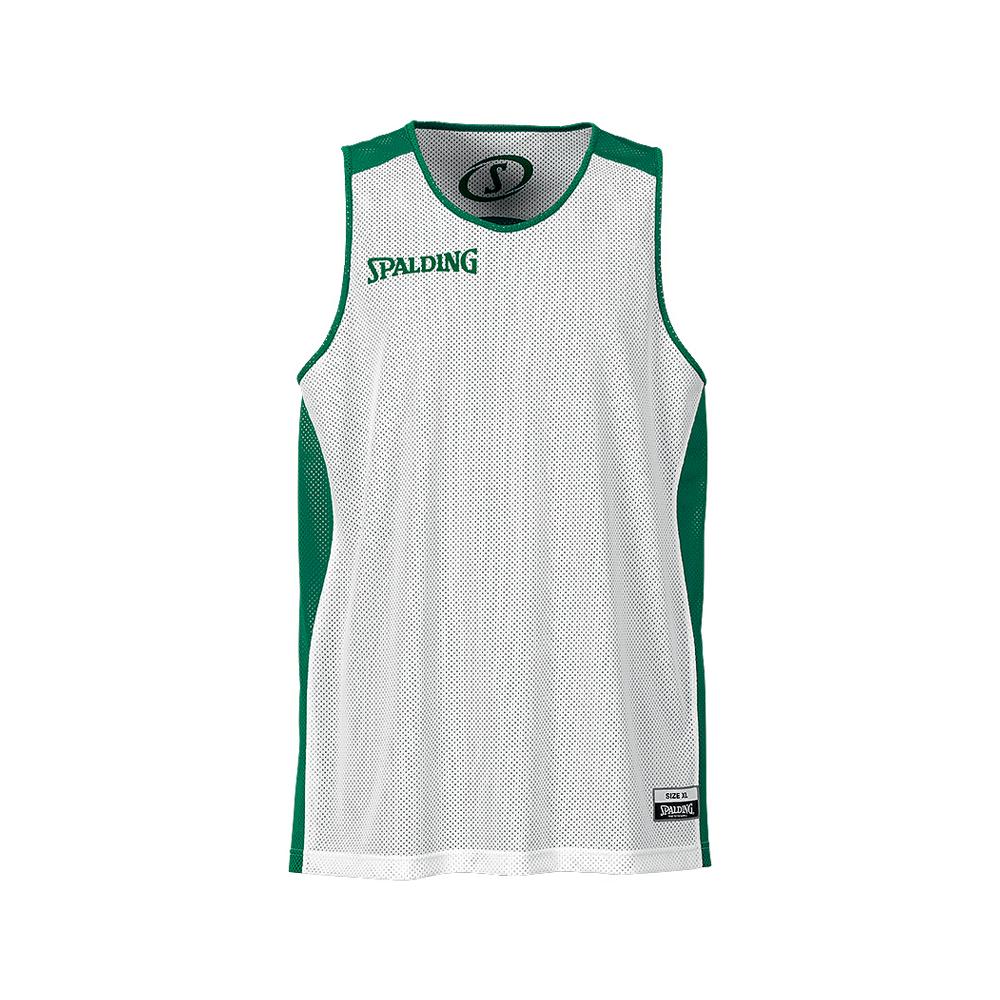 Spalding Essential Reversible Shirt - Vert & Blanc - Face blanche