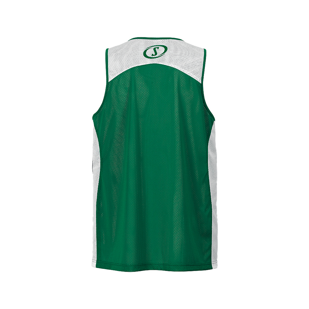Spalding Essential Reversible Shirt - Vert & Blanc - Dos